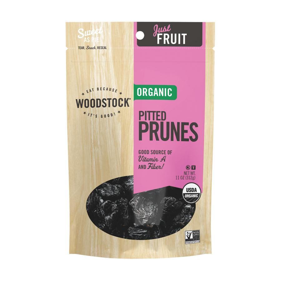 Woodstock Organic California Prunes - Pitted - Case of 8 - 11 oz.