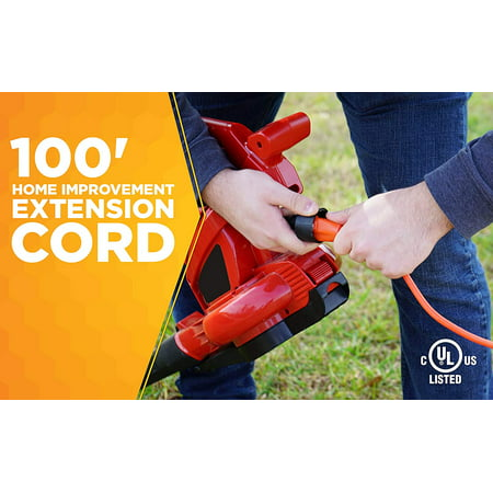 Woods 0269 16 Gauge 100' Orange SJTW General Purpose Extension Cord