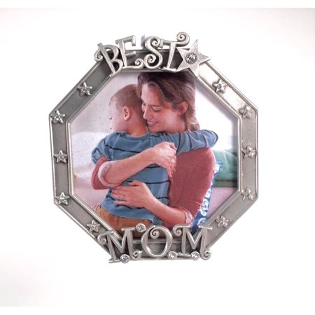 Best Mom Photo Frame Pewter with Austrian Crystals Made in USA Austrian Crystal Jeweled Pewter Box