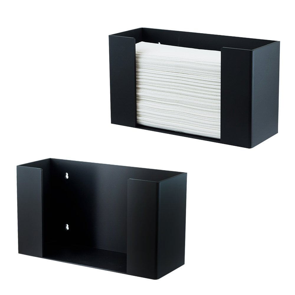 Houseables Paper Towel Dispenser Multifold C Fold Towels Holder 11 1 2 X 4 3 32 6 51 64 Cfold Trifold Napkins Commercial Black Acrylic