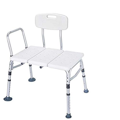 Tub Transfer Bench Shower Bench Chairs For Seniors Elderly Adults Disabled Shower Chair Bath Transfer Bench Adjustable Lightweight Shower Chair With Arms And Back Tub Bench By Healthline Walmart Com Walmart Com