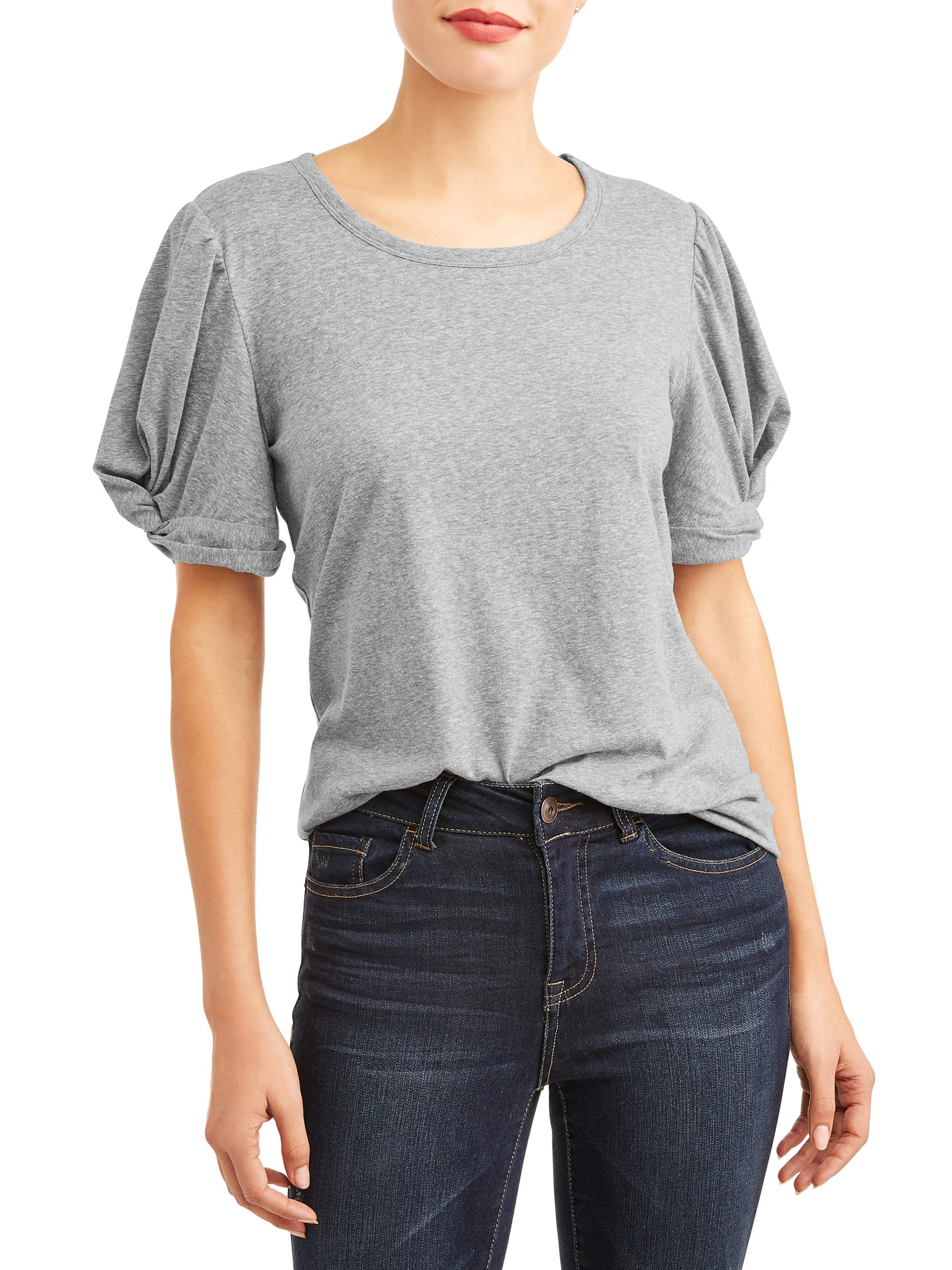 Women's Short Sleeve Knot T-Shirt