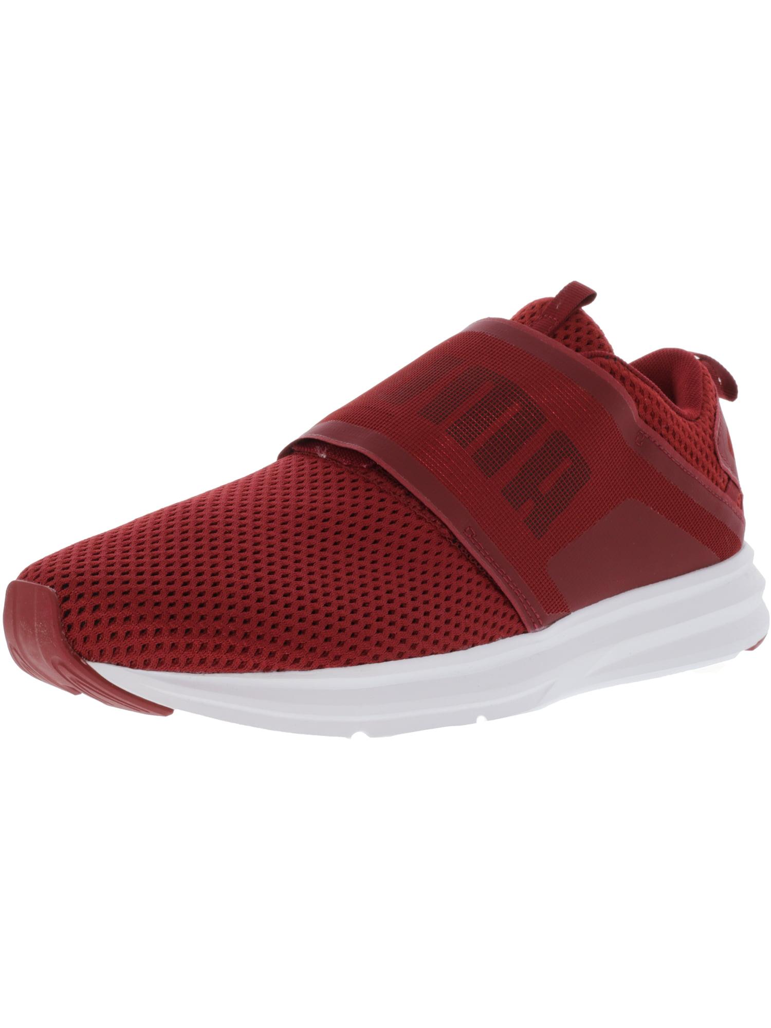 Puma Men's Enzo Strap Mesh Red Dahlia / Black Ankle-High Fabric Fashion Sneaker - 12M
