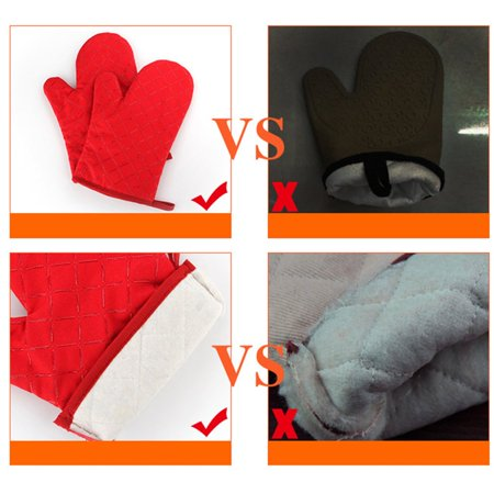 Baking High Temperature Resistant Oven Microwave Oven Non-Slip Gloves 1 Pair - image 4 of 4