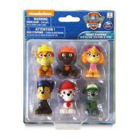 Paw Patrol Mini Figure 6-Pack (Character Mini Figure)