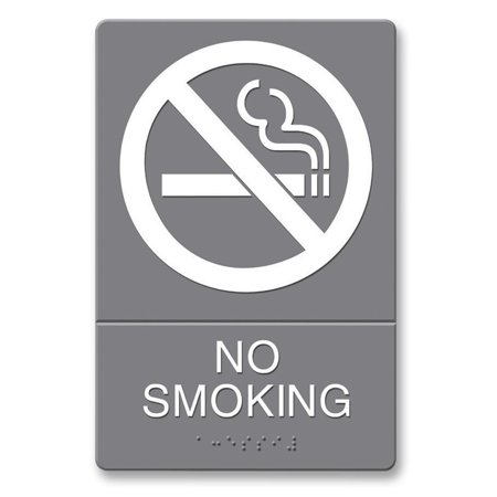 headline ada plastic no smoking sign white 1 each quantity