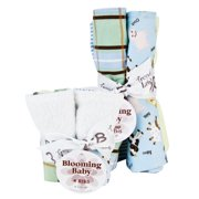Trend Lab Bouquet Set - Baby Barnyard - Bib & Burp Cloth