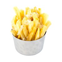 Short French Fry Cup, Metal Fry Cup - Stainless Steel - Mirrored Finish - 1ct Box - Met Lux