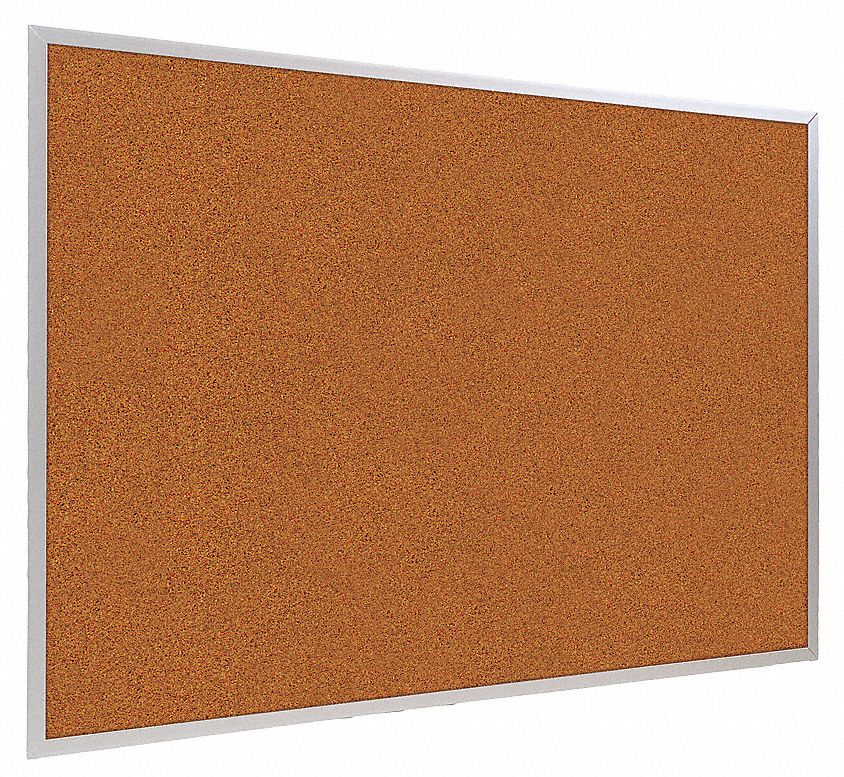 "Balt Push-Pin Bulletin Board, Splash Cork, 48""H x 120""W, Red  300AK-93"