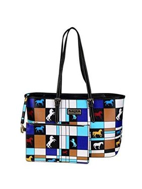 6ffec102c598 Product Image the trail of painted ponies collection handbag tote and  wristlet (white)