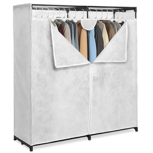 Whitmor White 60-inch, Extra-Wide Clothes Closet