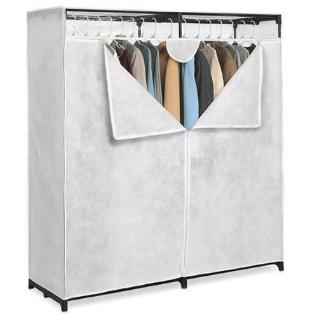 Whitmor White 60 Inch Extra Wide Clothes Closet Walmart Com