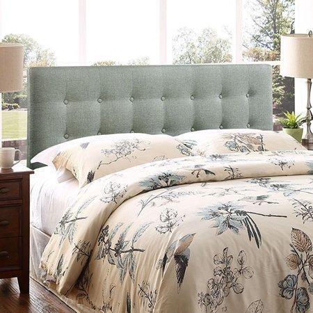 BSD National Supplies Hixson Stylish Grey Fabric Upholstered King Size - National Silver King