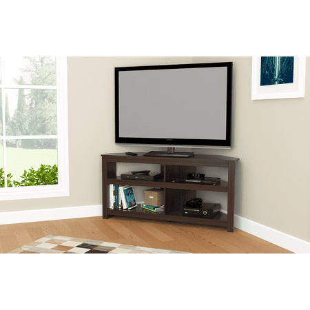 Inval Contemporary Espresso 60-inch Flat Screen TV Stand ()