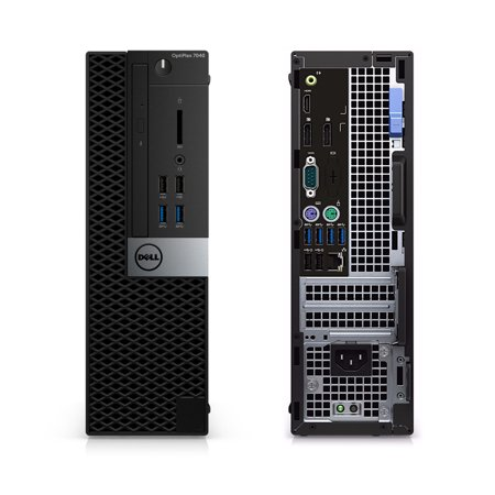 Refurbished - Dell OptiPlex 7040, SFF, Intel Core i5-6500 up to 3.60 GHz, 8GB DDR3, 4TB HDD, DVD-RW, Wi-Fi, USB to HDMI Adapter, NEW Keyboard + Mouse, Win10 Pro 64 - image 2 of 3
