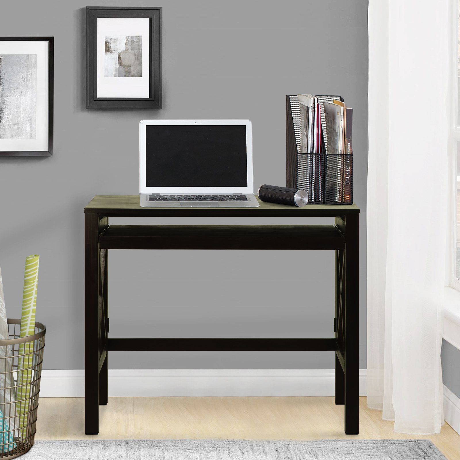 Desk With Pull Out Table Casual Home Montego Computer Desk With Pullout Tray  Walmart