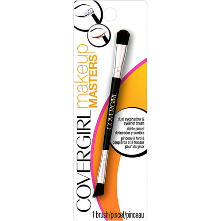 6 Pack - CoverGirl Makeup Masters Dual Eyeshadow & Eyeliner Brush 1 ea