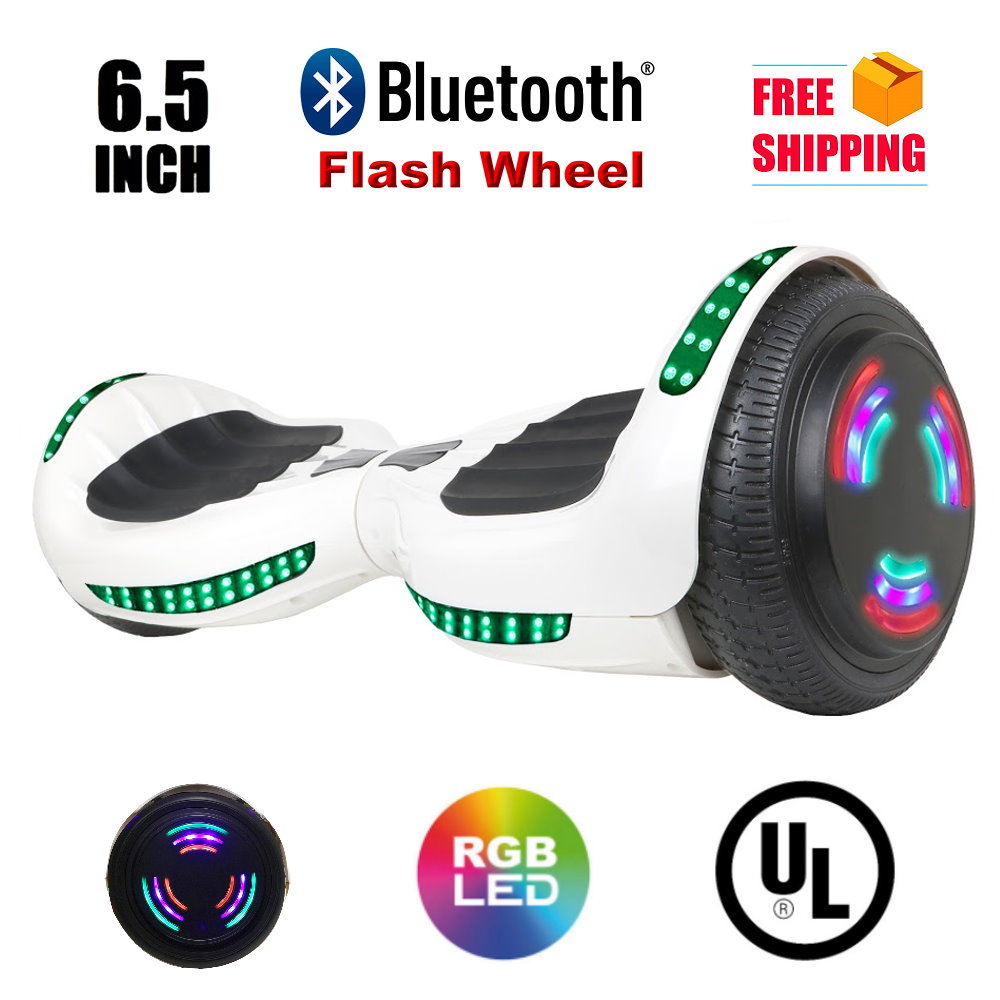 "Click here to buy Hoverboard Two-Wheel Self Balancing Electric Scooter 6.5"" UL 2272 Certified with Bluetooth Speaker and LED Light... by HOVERHEART."