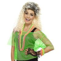 80s Fishnet Top Adult Costume Green - Medium/Large