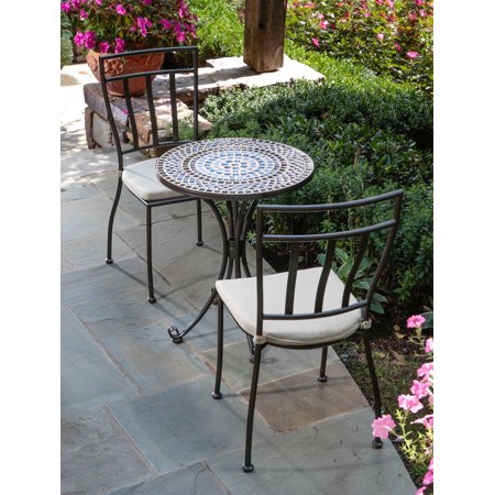 Alfresco Home Tremiti Mosaic 3 Piece Bistro Set With 24