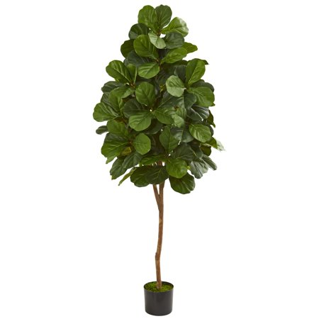 - Nearly Natural 6' Fiddle Leaf Fig Artificial Tree