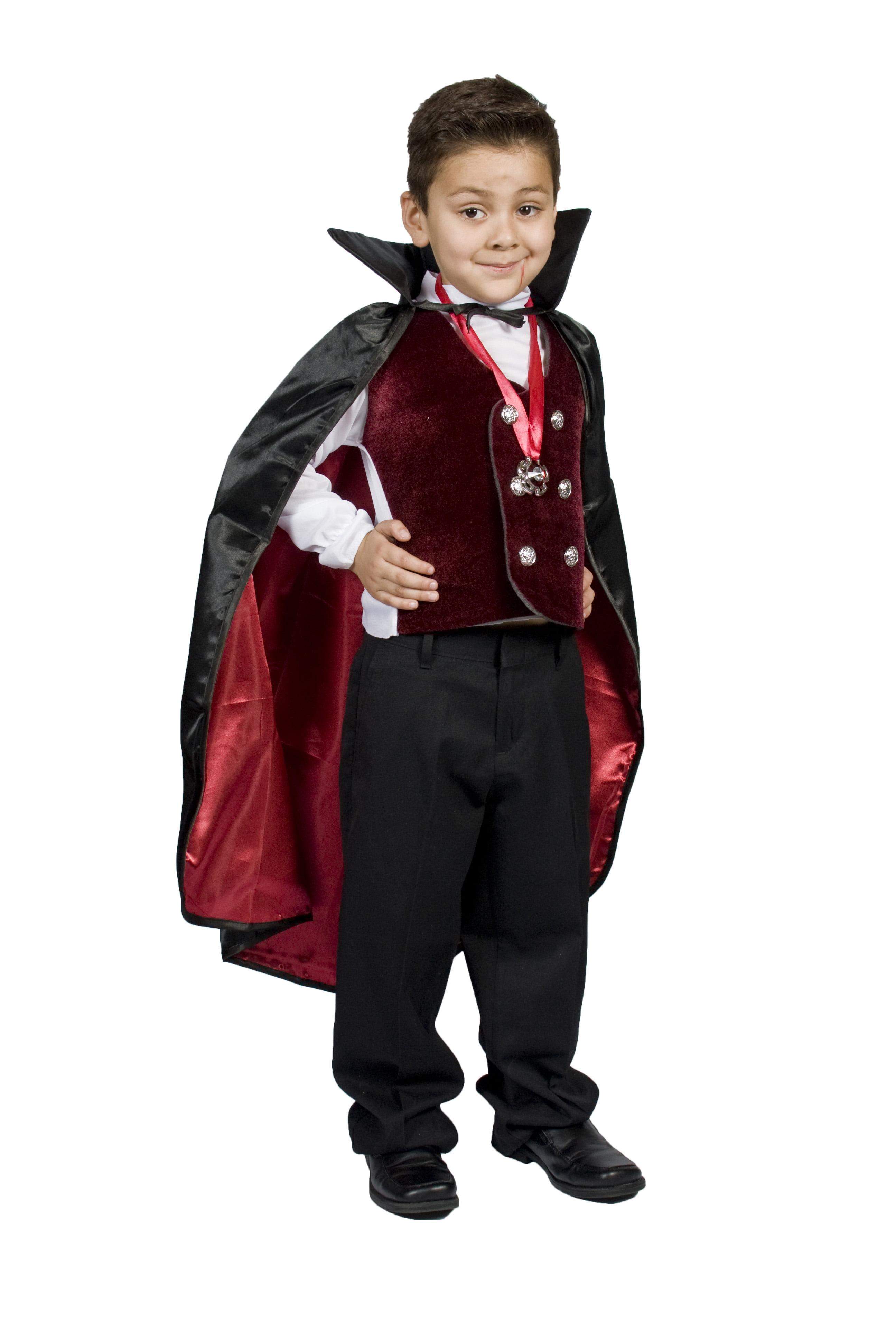 Vampire Halloween Costume, Dracula Boys/Girls Size S 4 5 6 S (4-6) -  Walmart.com