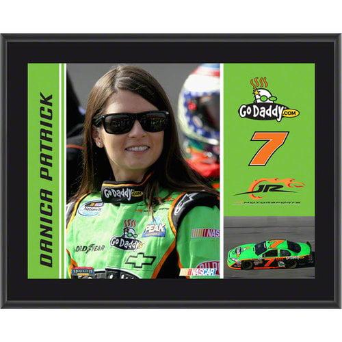 Danica Patrick Plaque   Details: #7 GoDaddy.com Car, JR Motorsports, Sublimated, 10x13, NASCAR Plaque