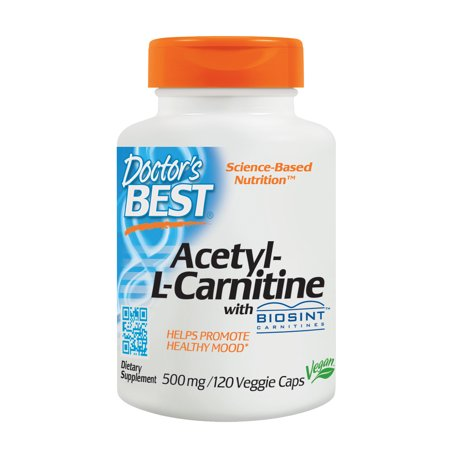 Doctor's Best Acetyl-L-Carnitine with Biosint Carnitines 500 MG Capsules, 120