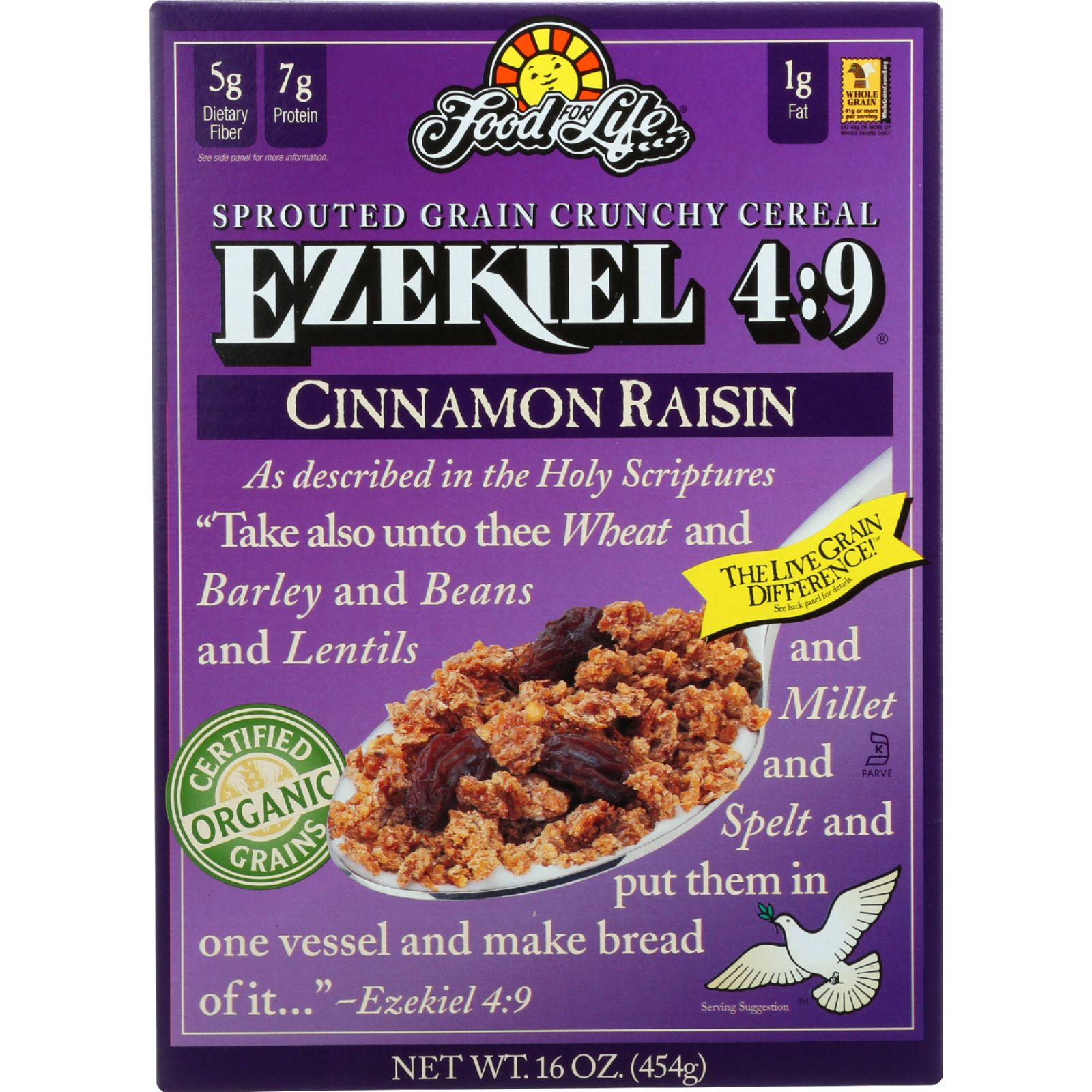 Food For Life Baking Co. Cereal - Organic - Ezekiel 4-9 -...