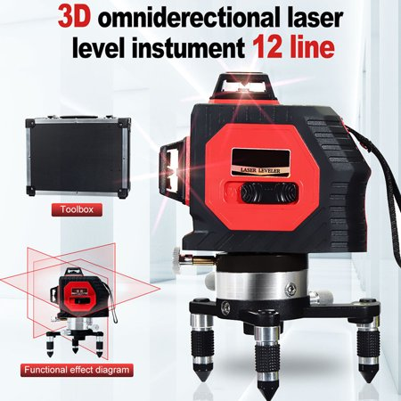360° 12 Red Lines 3D Laser Level Self-leveling Vertical Horizontal Cross Measure Tool