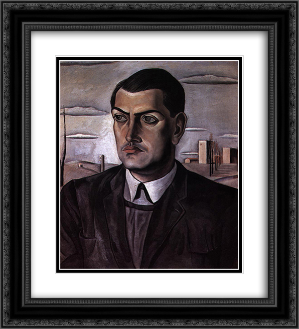Salvador Dali 2x Matted 20x22 Black Ornate Framed Art Print 'Portrait of Luis Bunuel '