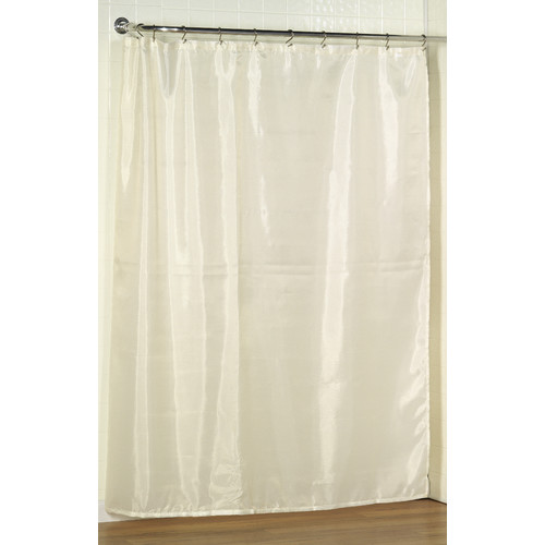 Carnation Home Fashions Polyester Fabric Shower Curtain Liner 70-in 72-in