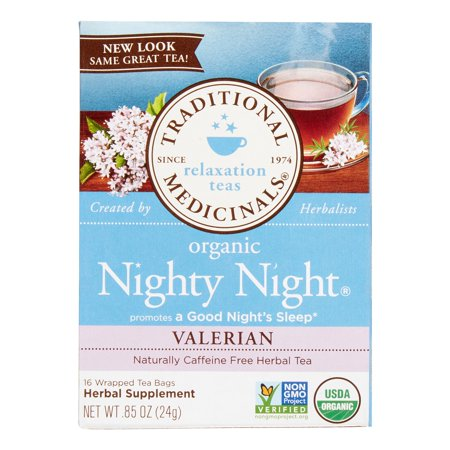 TRADITIONAL MEDICINALS - Nighty Night Valériane, Thé à base de plantes bio, 16 Count