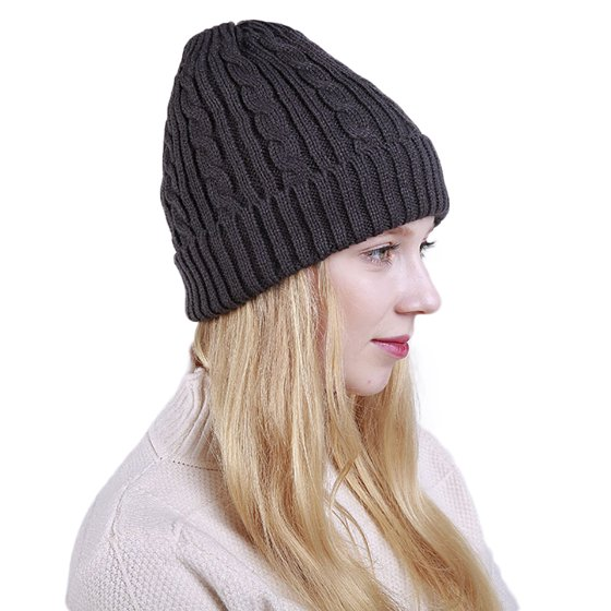 Girl12Queen - HiCoup Knitted Warm Solid Color Beanie Hat Outdoor ... 8d125ab66dd7