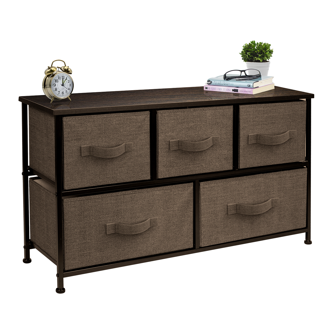 Closet Giantex 3 Drawers Dresser Wood Dresser Chest W//Large Storage Space Accent Furniture for Bedroom Entryway Living Room Hallway Dresser Black Solid Wood Frame /& Premium Metal Handle