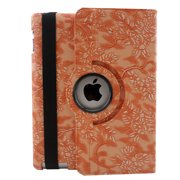 TCD iPad Air Fancy Rotating Black Flower PU 360 Leather Case Cover Stand + Scree