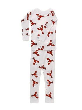 New Jammies Unisex Baby Red Lobster Print Cotton 2 Pc Sleepwear Set 12-24M