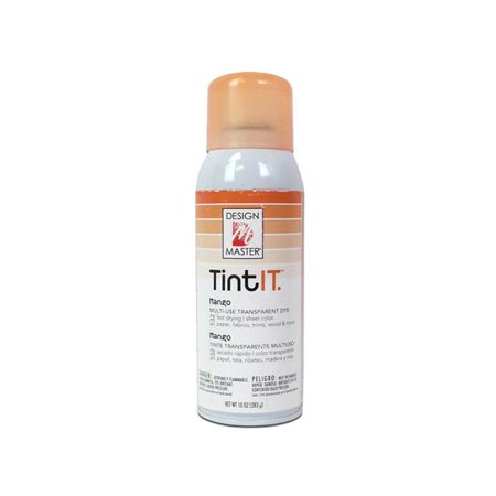 Design Master Tint IT Transparent Dye Spray Paint, 10-Ounce, Mango Multi-Colored Upholstery Spray Dye