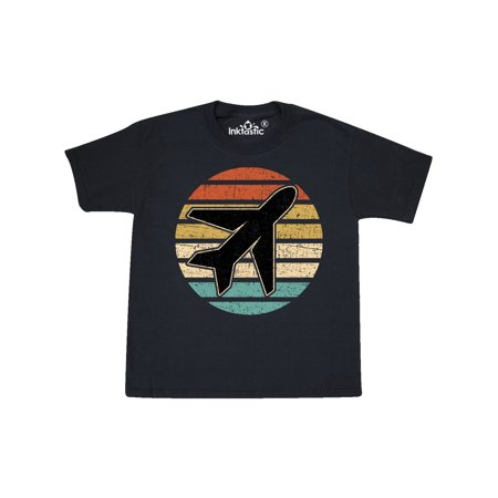 Airplane Pilot Vintage Sunset Youth T-Shirt
