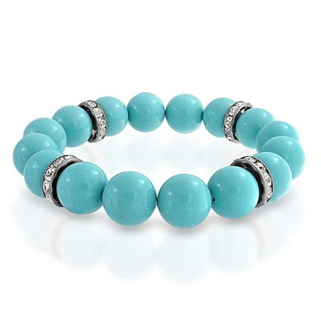 Simulated Turquoise Resin Crystal Stretch Bracelet Alloy (Resin Stretch Bracelet)
