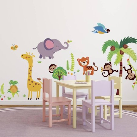 Tumble in the Jungle Wall Decal Sticker - 14x30