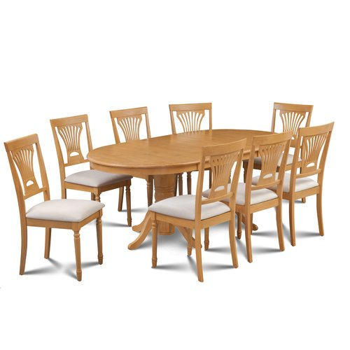 Alcott Hill Kelston Mills 9 Piece Extendable Solid Wood Dining Set
