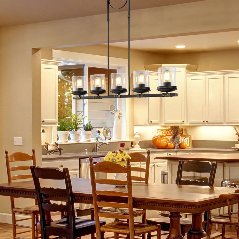 linear kitchen island lighting 5light farmhouse