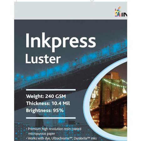 - Inkpress PCL131920 Commercial Luster Inkjet Paper 13in. X 19in. 20 Sheets