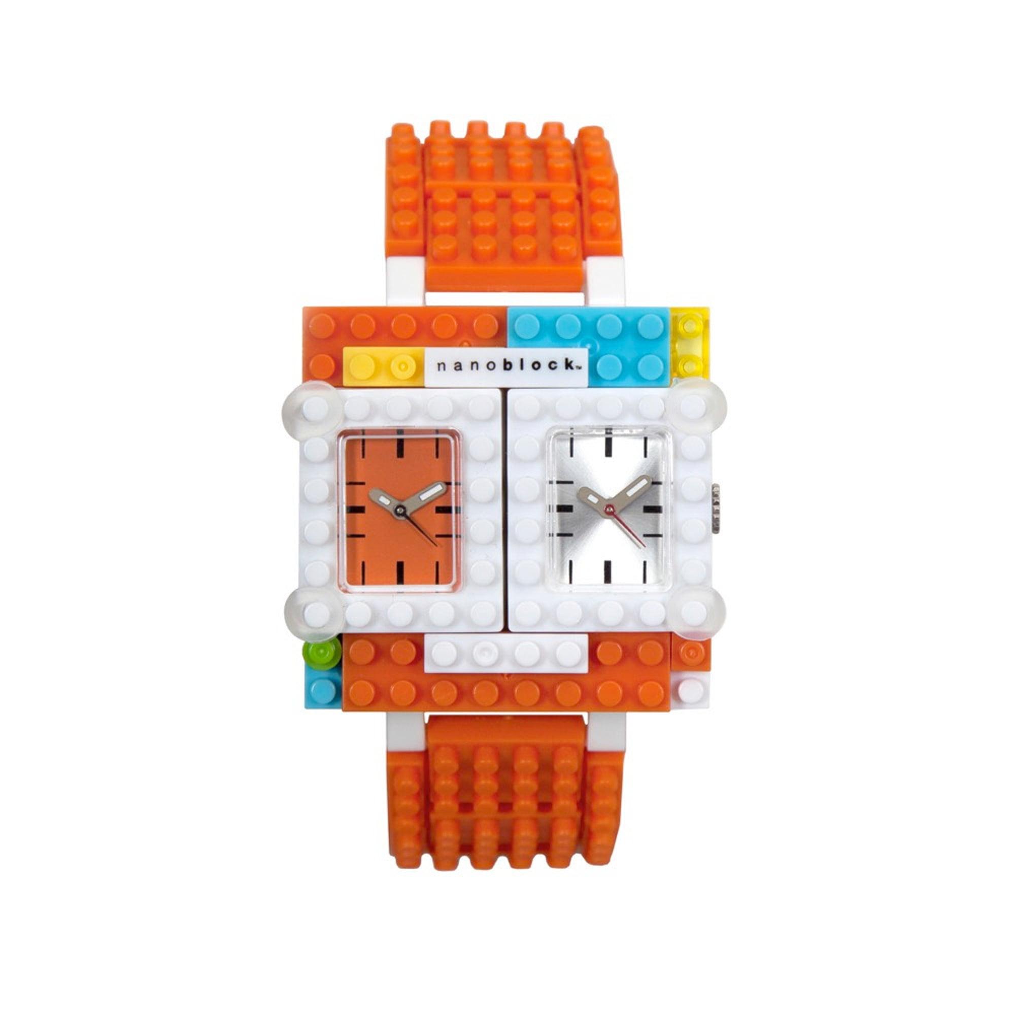 Nanoblocktime Traveler Watch, Orange by Nanoblocktime
