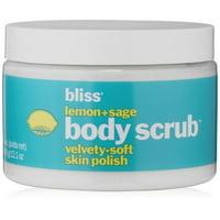 Bliss Lemon + Sage Body Scrub Velvety Soft Skin Polish, 12.1 Oz