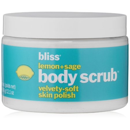 Bliss Lemon + Sage Body Scrub Velvety Soft Skin Polish, 12.1 Oz