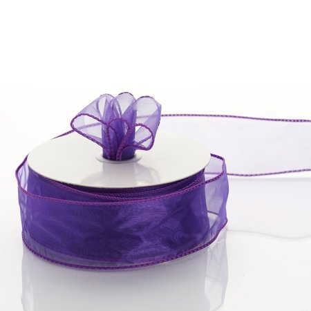 Efavormart Multiple Colors Wedding Party Event Decoration Wired Organza Ribbon 1 1/2""