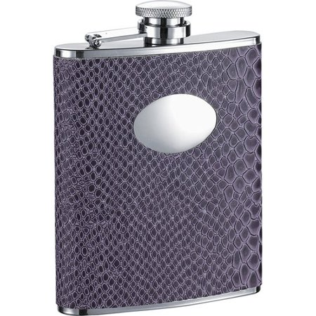 (Visol Products Snakeskin Design Stainless Steel Hip Flask)