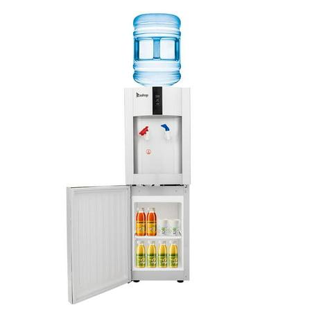 Ktaxon Water Cooler Dispenser Top Loading Freestanding Water Dispenser - Hot & Cold Water, Child Safety Lock, Innovative Slim